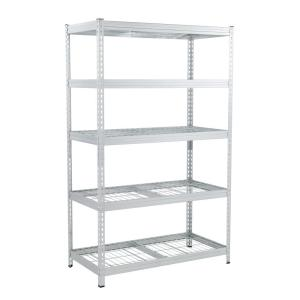 Deals on Husky 78 in. H x 48 in. W x 24 in. D 5 Galvanized Steel 5-Tier Shelf