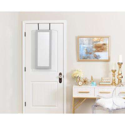 Gray Space Saver Mirrored Jewelry Armoire