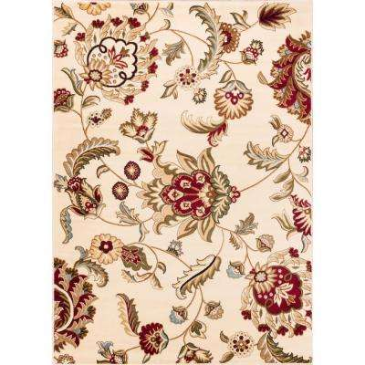 Barclay Ashley Oriental Ivory 8 ft. x 10 ft. Country and Floral Area Rug