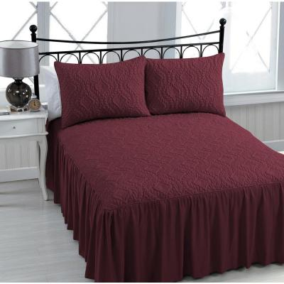 Samantha 3-Piece Burgundy Queen Bedspread