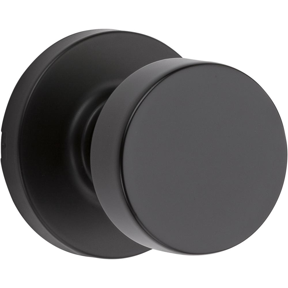 Kwikset Kwikset Pismo Round Iron Black Hall/Closet Door Knob