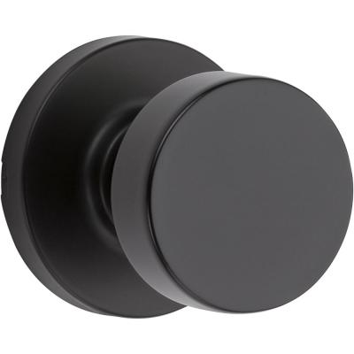 Pismo Round Matte Black Hall/Closet Door Knob Featuring Microban Antimicrobial Technology