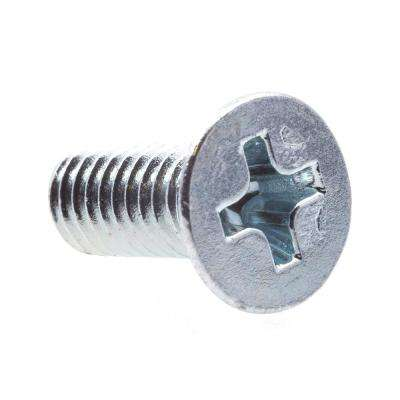 M4-0.7 x 10 mm Metric Zinc Plated Steel Phillips Drive Flat Head Machine Screws (25-Pack)