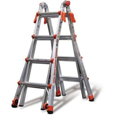 LT 17 ft. Aluminum Multi-Position Ladder with 300 lbs. Capacity Type IA