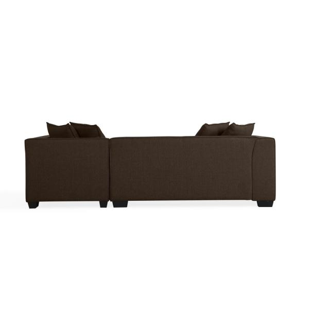 Chocolate Brown Linen Sectional Sofa