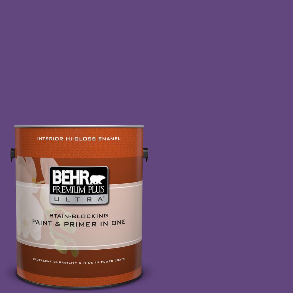 1 gal. #HDC-MD-25 Virtual Violet Hi-Gloss Enamel Interior Paint