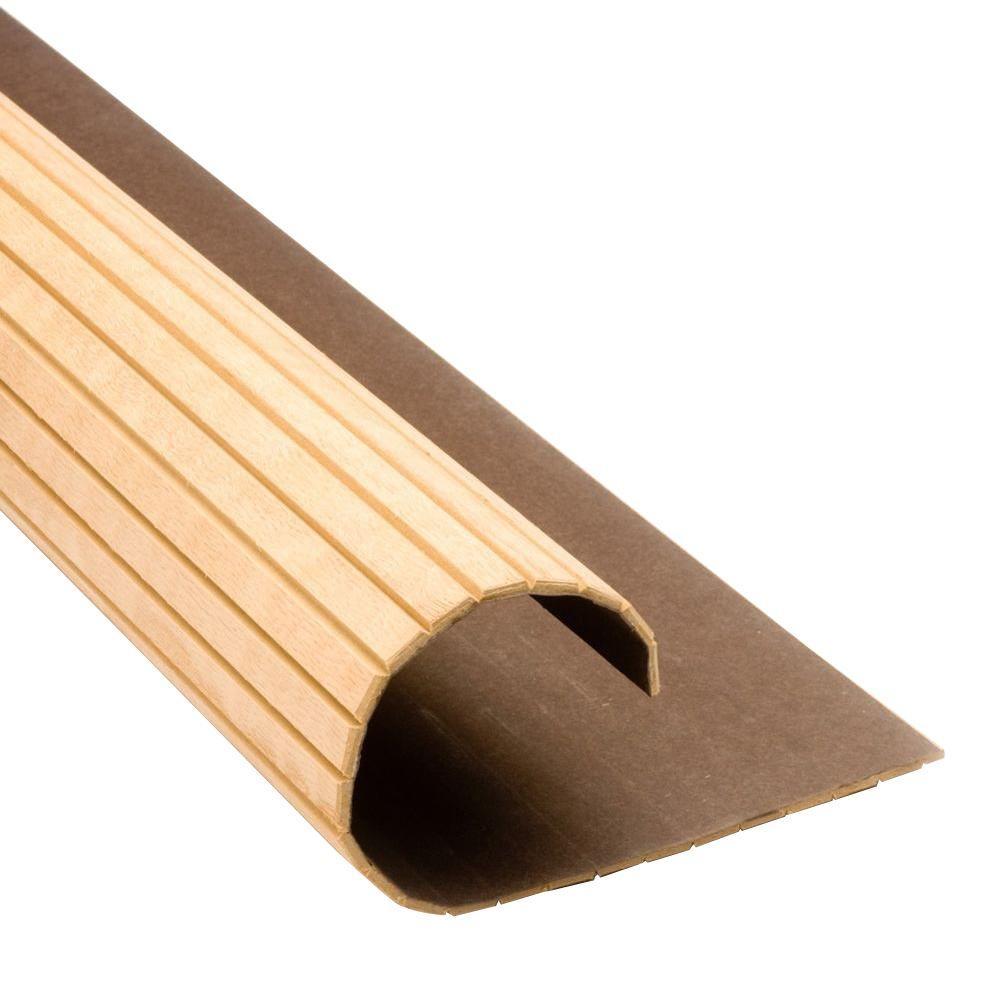 Pole Wrap 48 In X 48 In Oak Basement Column Cover