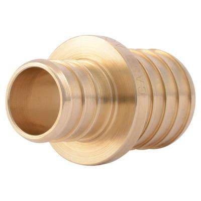 1 in. x 3/4 in. PEX Barb Brass Reducer Coupling Fitting