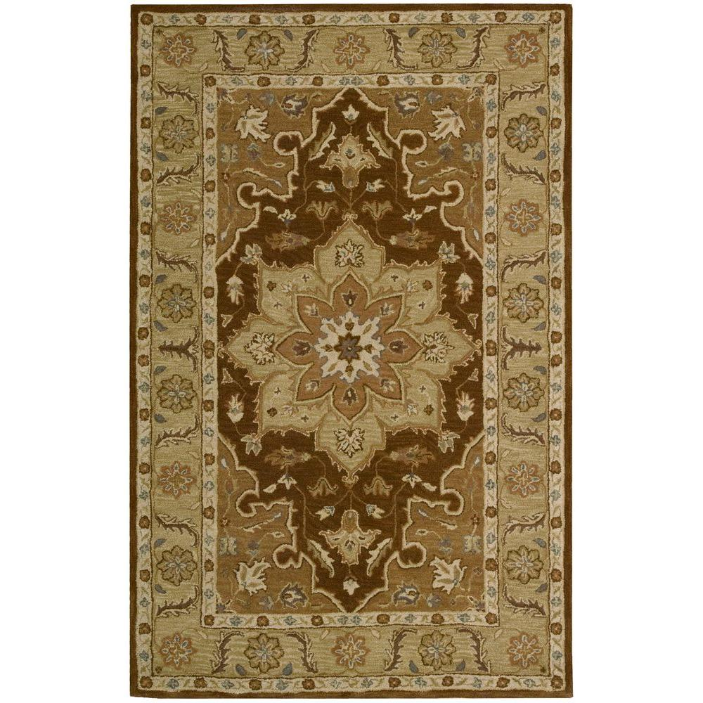 Overstock Area Rugs: Nourison Overstock India House Chocolate 5 Ft. X 8 Ft