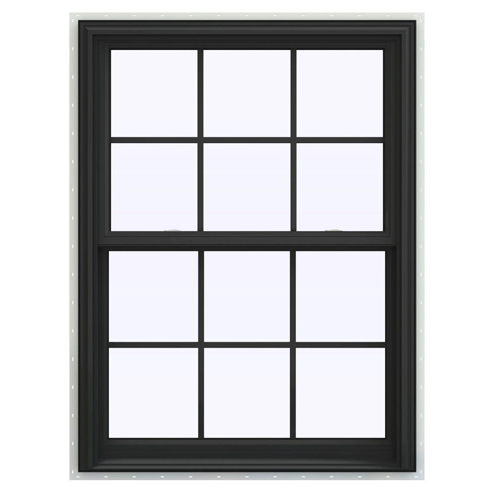 Jeld wen 35 5 in x 40 5 in v 2500 series double hung for Best double hung windows reviews