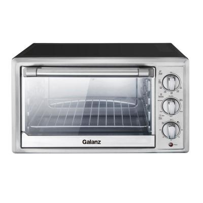 6-Slices Toast, 12-Pizza Toaster Oven Stainless Steel Look