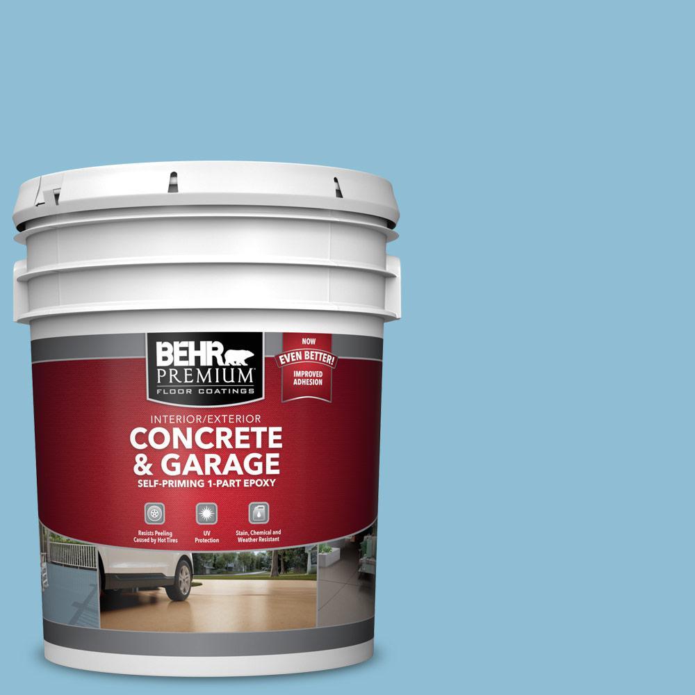 5 gal. #M490-3 Speedboat Self-Priming 1-Part Epoxy Satin Interior/Exterior Concrete and Garage Floor Paint
