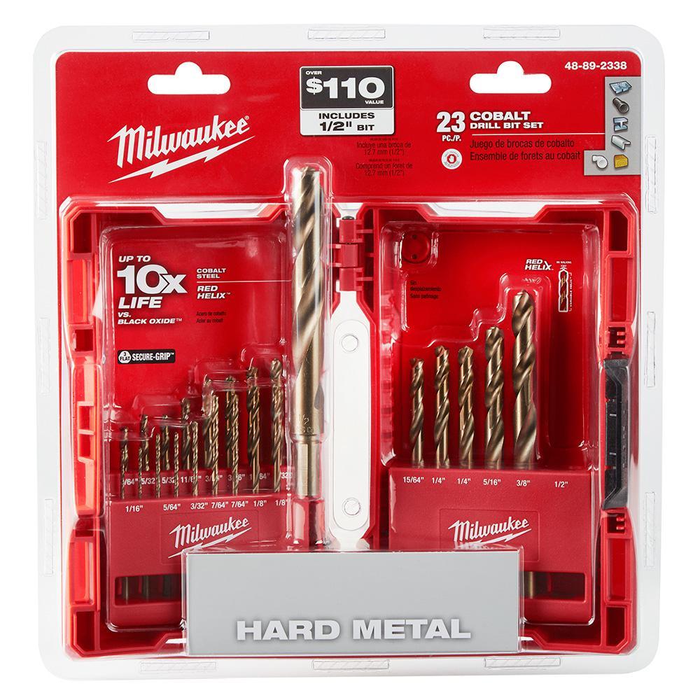 Cobalt Red Helix Drill Bit Kit (23-Piece)