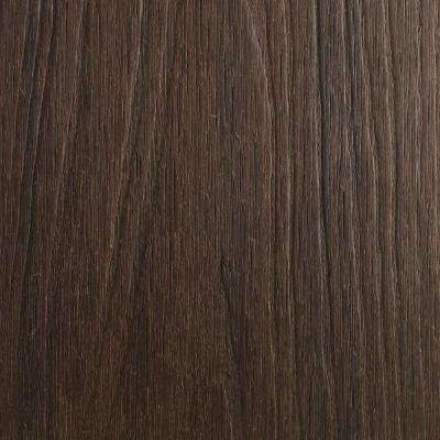 UltraShield Naturale Cortes Series 1 in. x 6 in. x 1 ft. Spanish Walnut Solid Composite Decking Board Sample