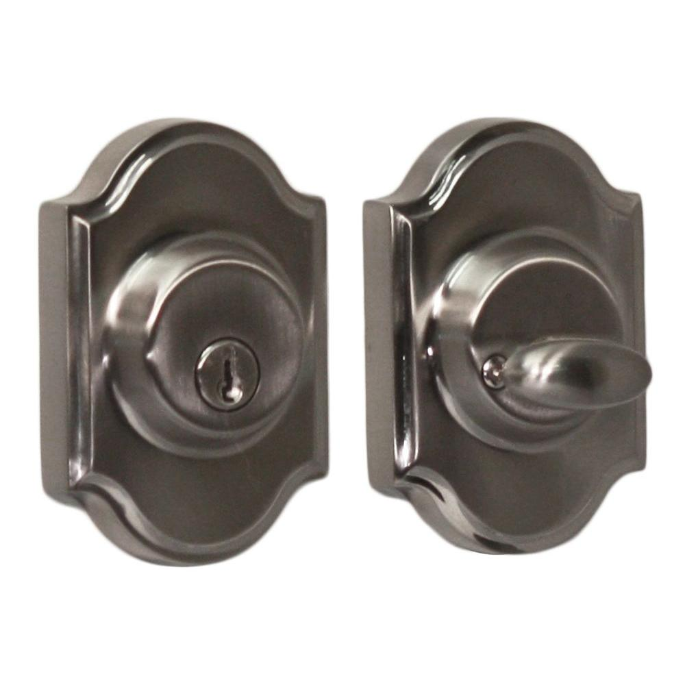 Elegance Single Cylinder Satin Nickel Premiere Deadbolt