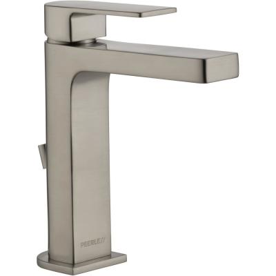 Xander Single Hole Single-Handle Bathroom Faucet with Hi-Arc Spout in Brushed Nickel