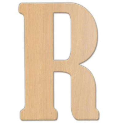 15 in. Oversized Unfinished Wood Letter (R)
