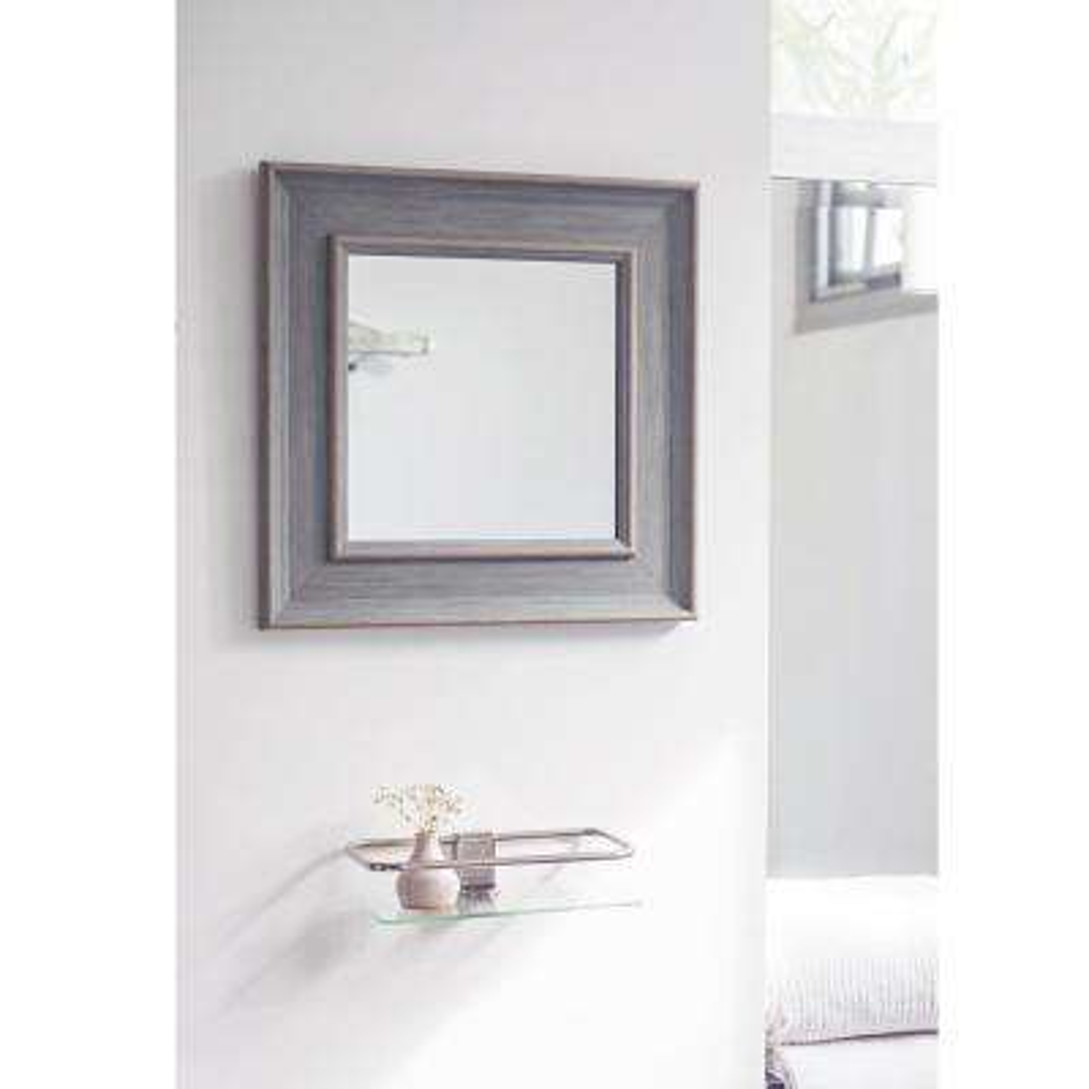 15.5 in. x 15.5 in. Blue Antique Finish Mirror
