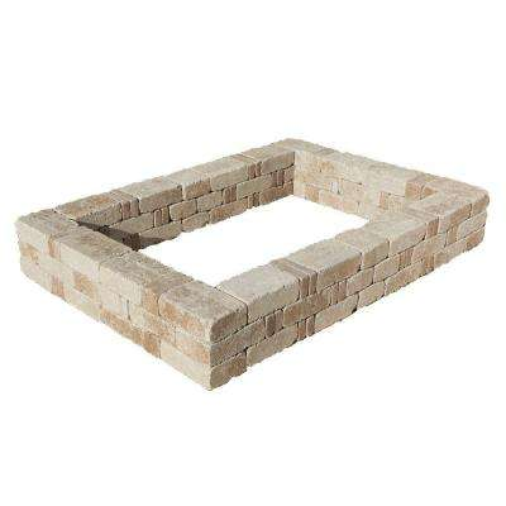 RumbleStone 49 in. x 49 in. x 10.5 in. Cafe Concrete Raised Garden Bed