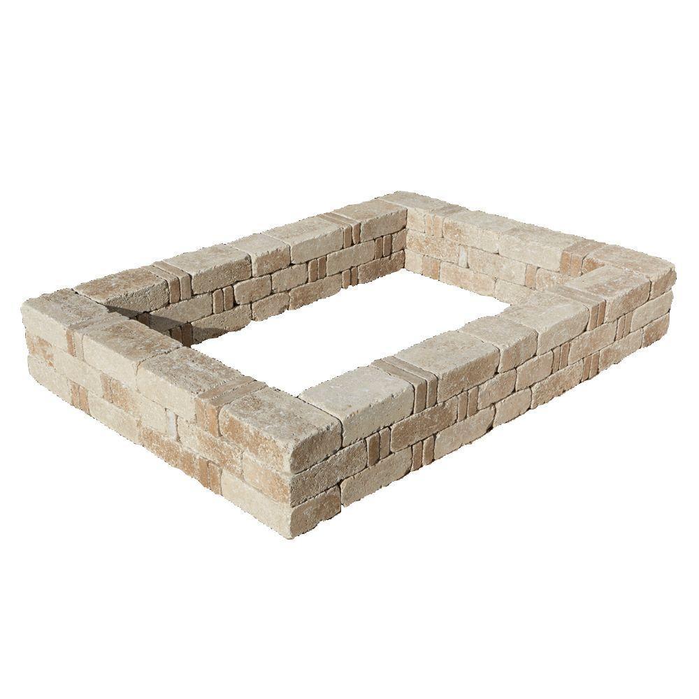 Pavestone RumbleStone 98 in. x 49 in. x 10.5 in. Cafe Concrete Raised Garden Bed