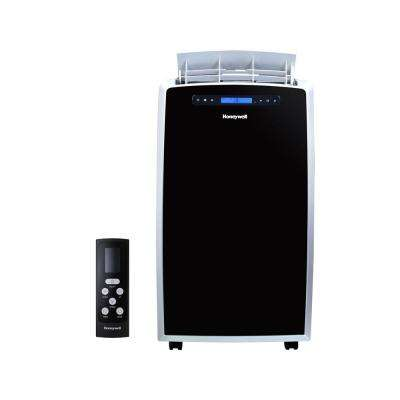14,000 BTU Portable Air Conditioner with Dehumidifier and Heat Pump in Black and Silver