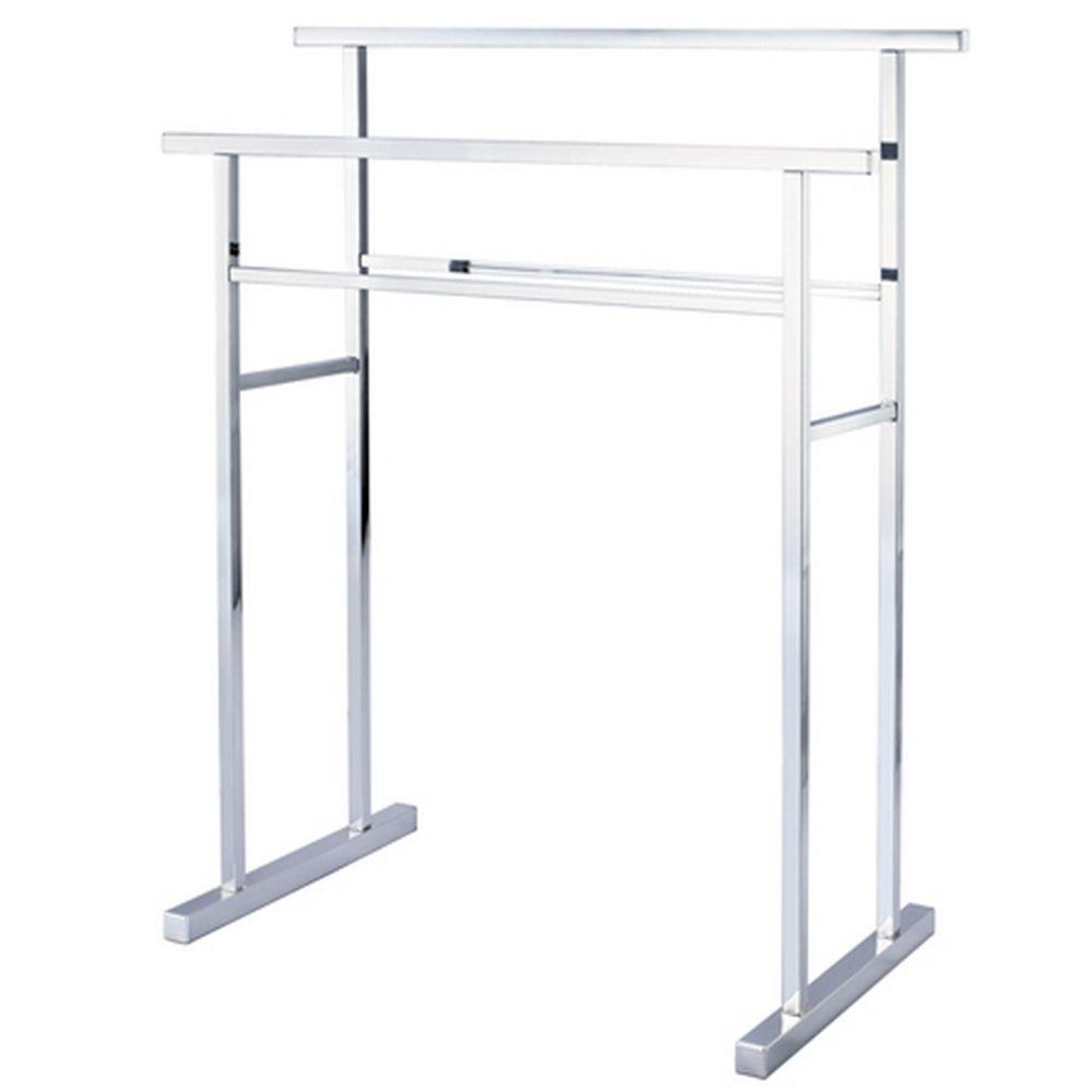 towel stand chrome countertop kingston brass european pedestal iron construction towel rack in polished chrome