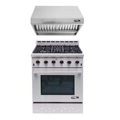 Entree Bundle 30 in. Gas Cooktop with 5-Burner in Stainless Steel
