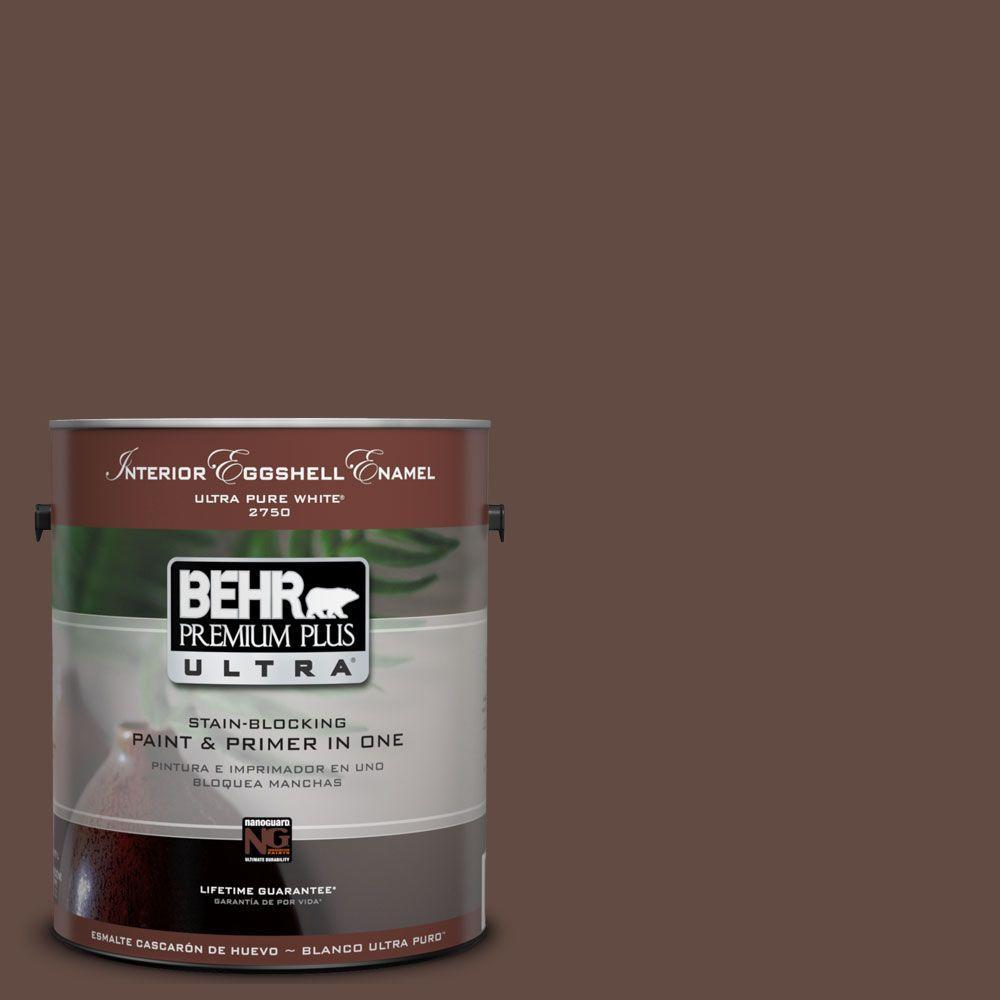 BEHR Premium Plus Ultra 1-Gal. #UL130-22 Cinnabark Interior Eggshell Enamel Paint