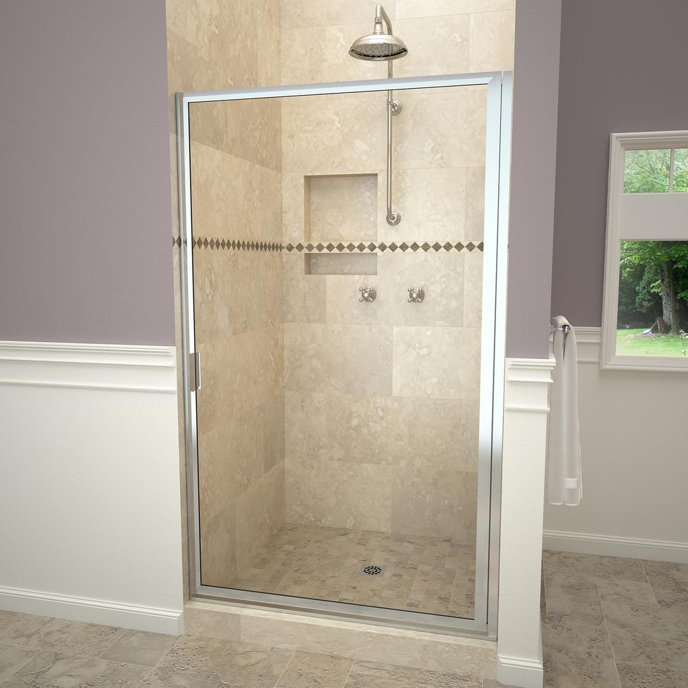 Redi Swing 1100 Series 34-3/4 in. W x 67 in. H Framed Pivot Shower ...