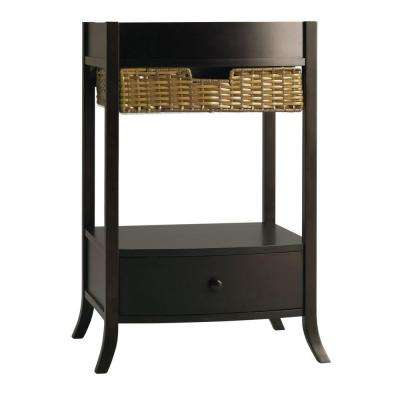 Archer 18.75 in. W x 23 in. D x 32.8125 in. H Vanity Cabinet Only in Black Forest