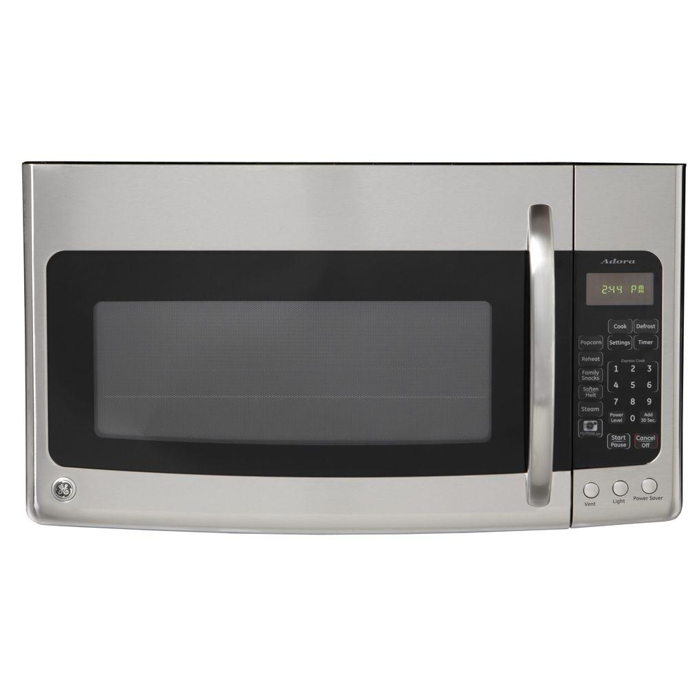 GE Adora 1.9 cu. ft. Over the Range Microwave in Stainless Steel with Sensor Cooking-DISCONTINUED