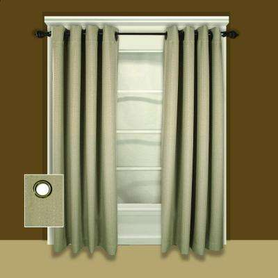 Grand Pointe 54 in. W x 63 in. L Polyester Blackout Window Panel in Natural