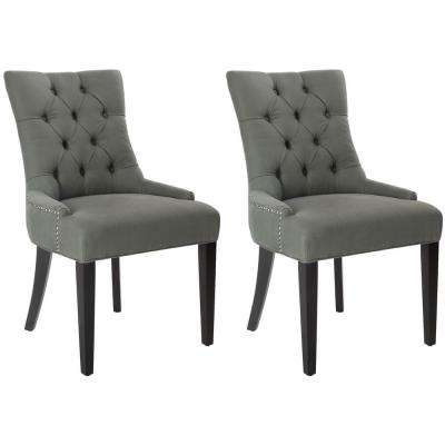 Abby Sea Mist/Espresso Linen Side Chair (Set of 2)