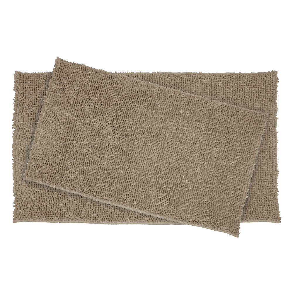 Plush Shag Chenille Linen 21 in. x 34 in. and 17