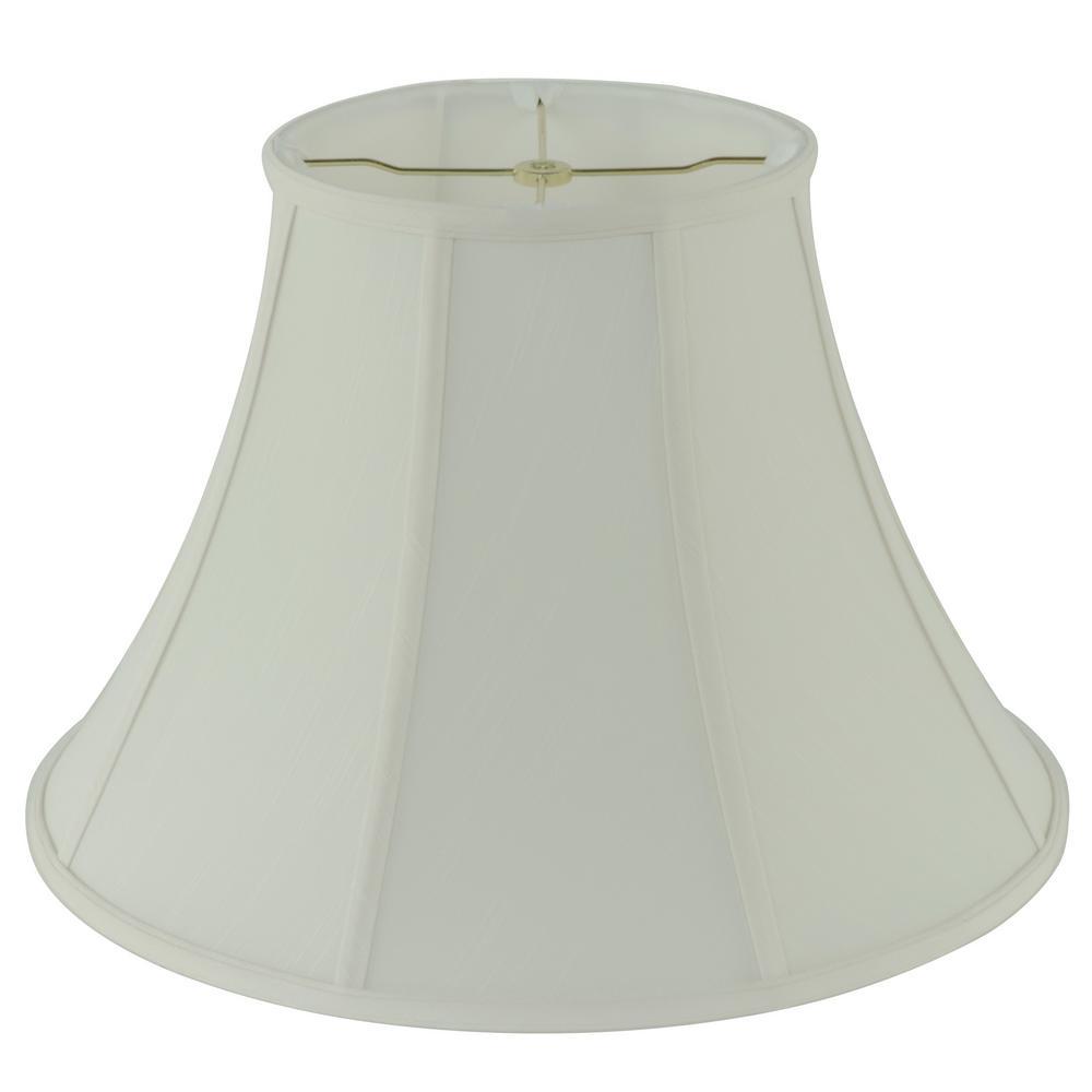 H Creme Linen Bell Lamp