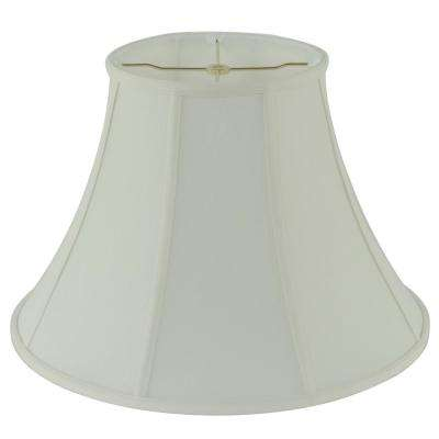 18 in. Dia x 13 in. H Creme Linen Bell Lamp Shade