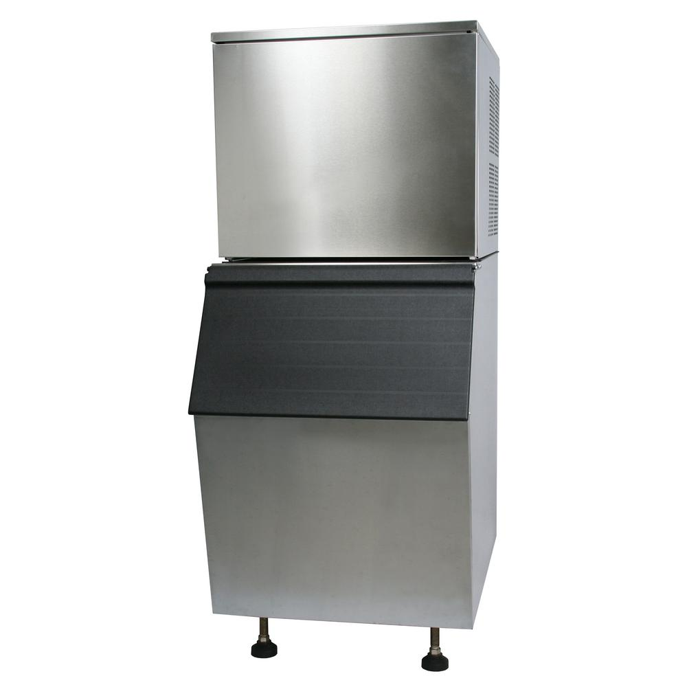 Norpole 275 lbs. Freestanding Ice Maker in Stainless Steel