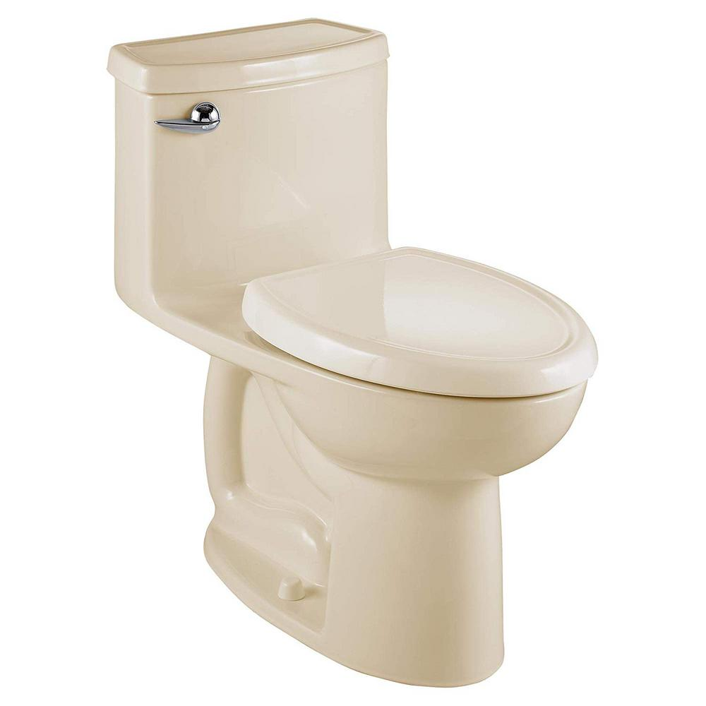 American Standard Compact Cadet 3 FloWise Tall Height 1-Piece 1.28 GPF Single Flush Elongated Toilet in Bone, Seat Included