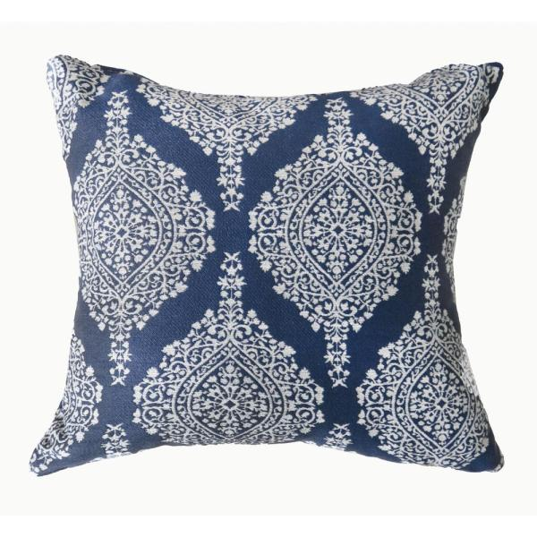Ida 18 in. Contemporary Throw Pillow in Blue (Pack of 2)