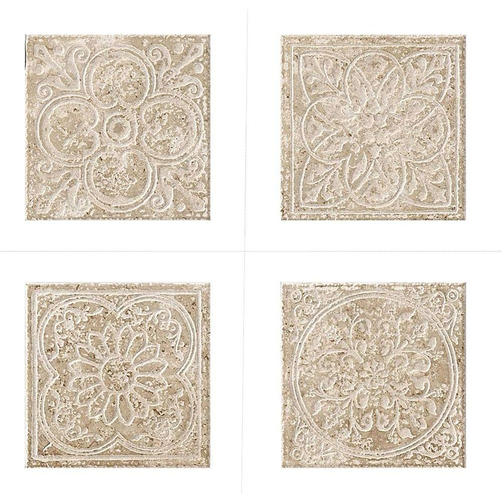 MARAZZI Montagna Lugano 6 in. x 6 in. Porcelain Embossed Deco Floor and Wall Tile
