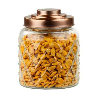 Small Glass Jar with Copper Top