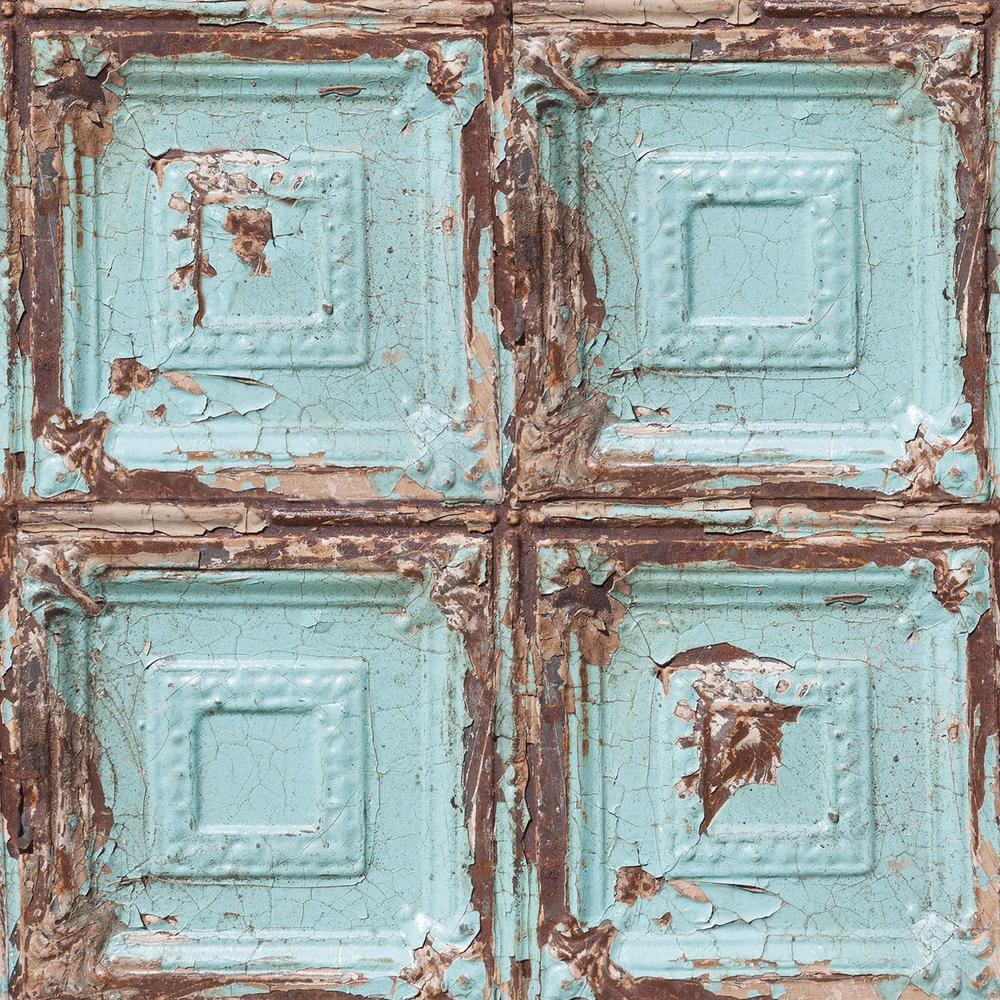 Graham & Brown Strata Mykonos Panel Blue Removable Wallpaper Sample 10494994