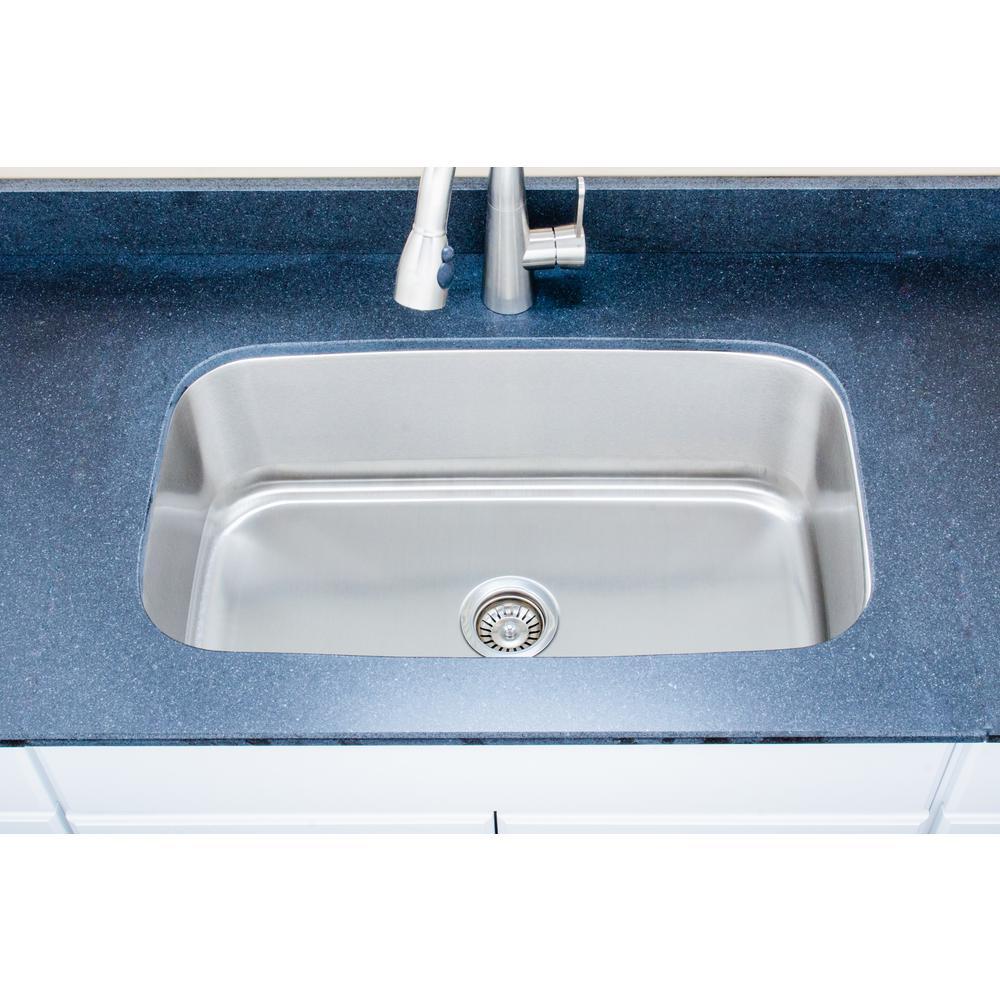 The Craftsmen Series Undermount  Stainless Steel 31 in. Single Bowl Kitchen Sink