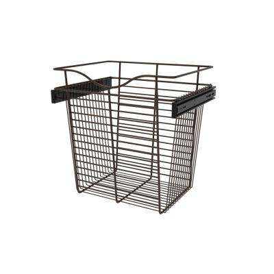18 in. x 18 in. Oil Rubbed Bronze Pull-Out Basket