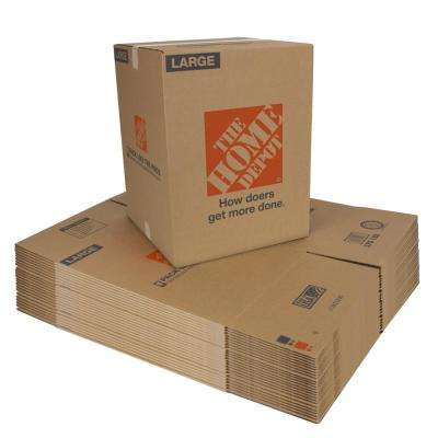 18 in. L x 18 in. W x 24 in. D Large Moving Box (25 Pack)