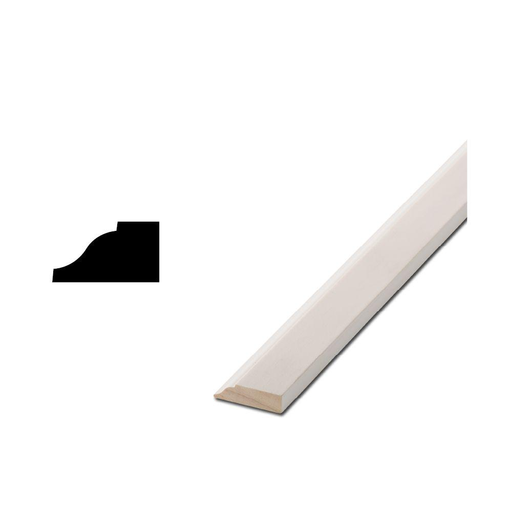 Woodgrain Millwork WM 941 7/16 in. x 3/4 in. x 84 in. Primed Finger-Jointed Stop Moulding