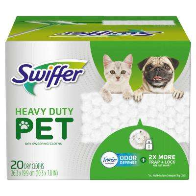 Heavy-Duty Pet Dry Sweeping Cloth Refills with Febreze Odor Defense (20-Count)