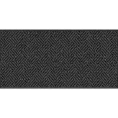 WaterGuard Diamonds Charcoal 3 ft. x 8 ft. Polypropylene Mat