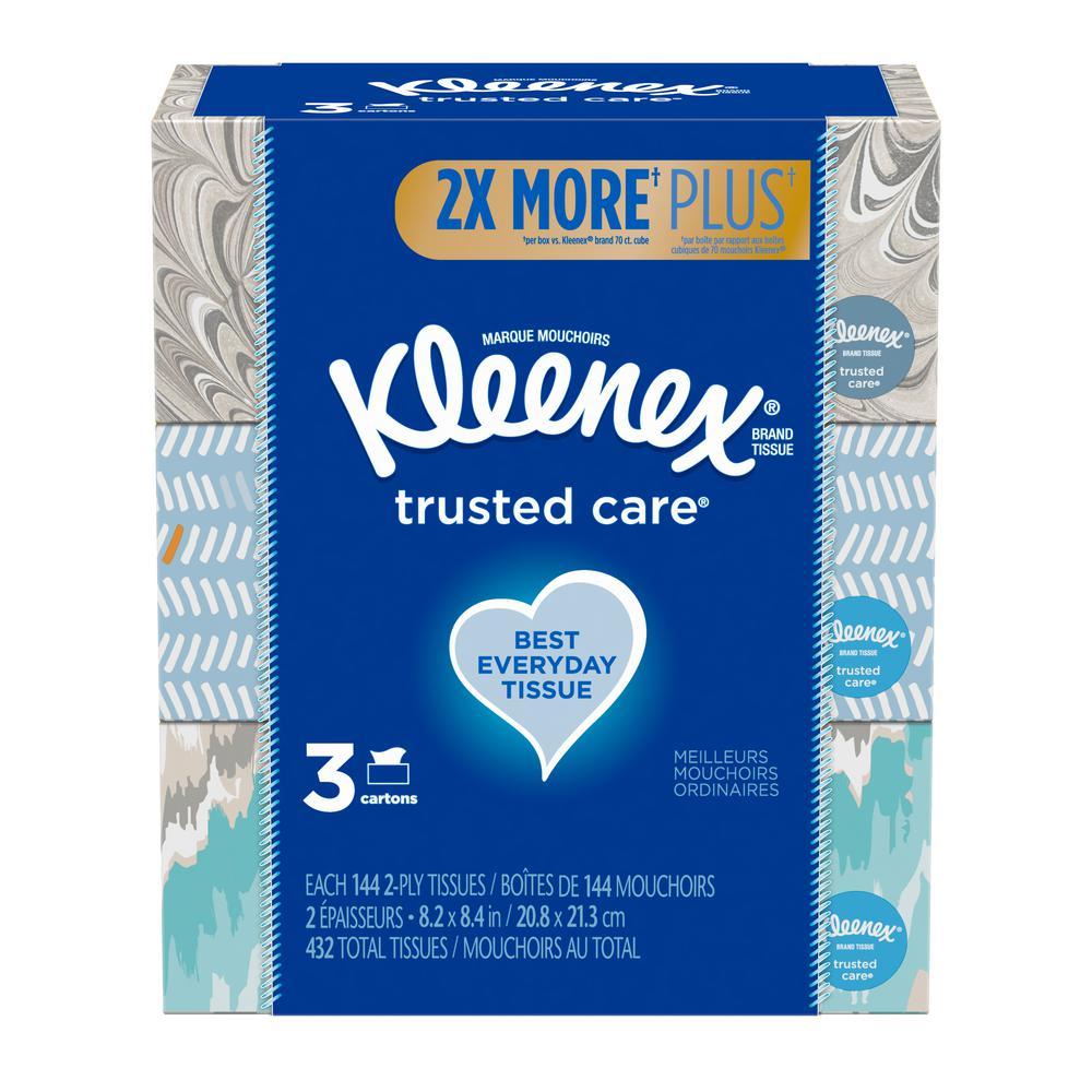 Kleenex Facial Tissue Bundle (3-Pack) (144-Count)