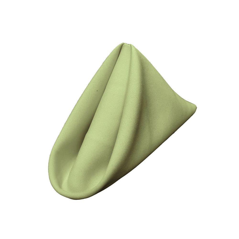 18 in. x 18 in. Sage Polyester Poplin Napkin (10-Pack)